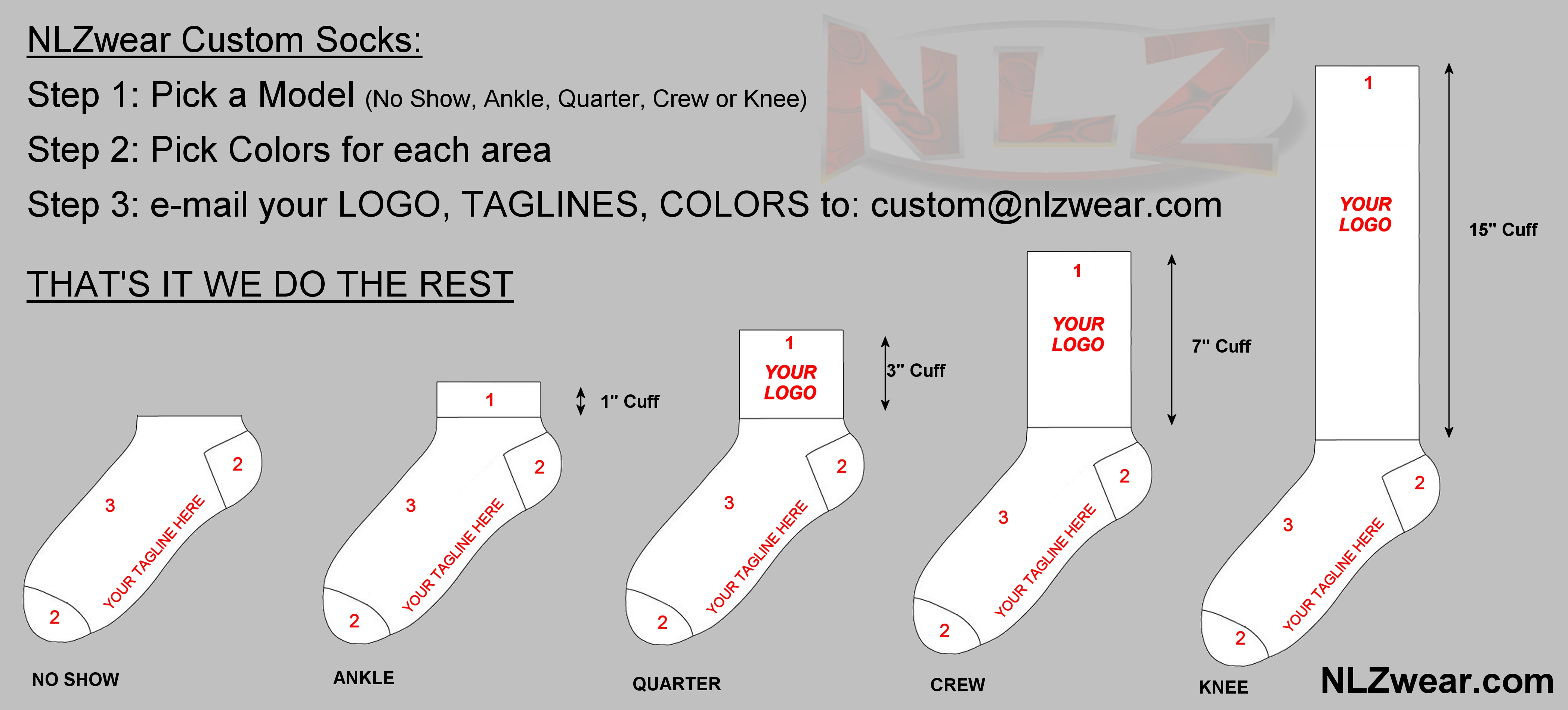 custom hiking socks nlzwear. Black Bedroom Furniture Sets. Home Design Ideas